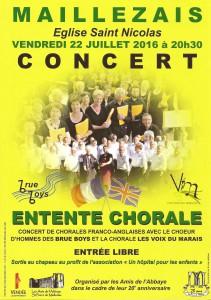 Concert 22 juillet Maillezais